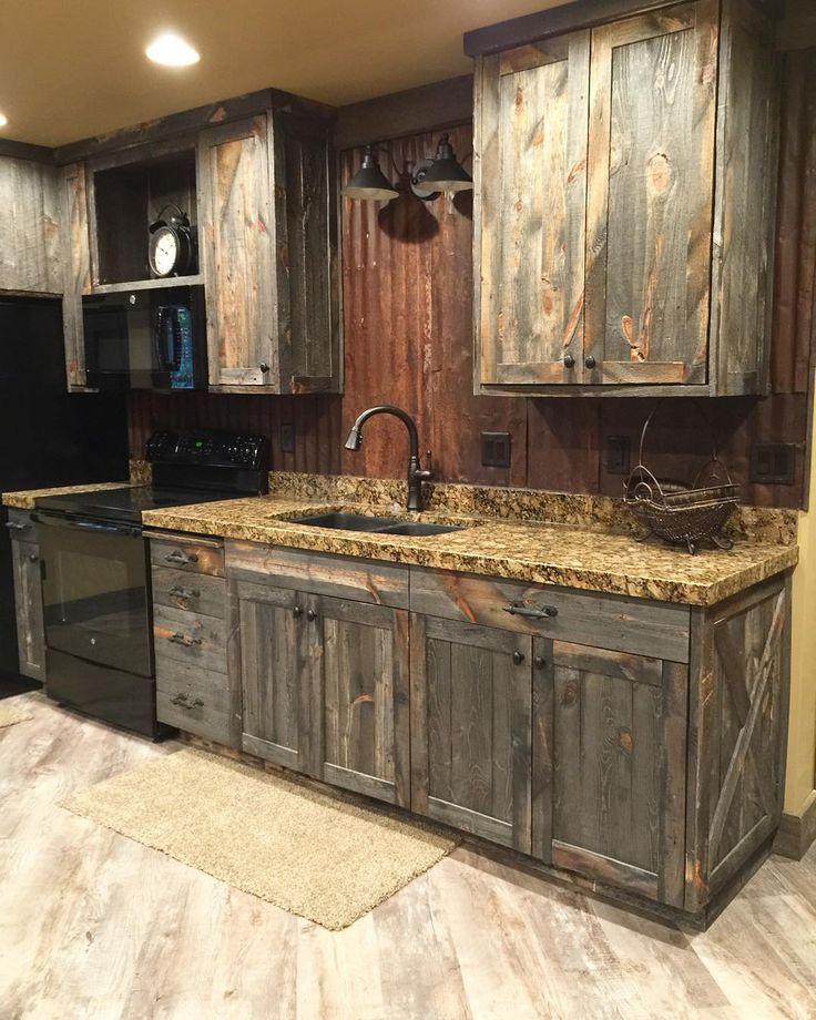 Rustic Kitchen Cabinets Farmhouse Furniture And Home Decor