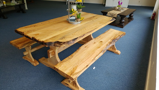 Custom Made Live Edge Tables And Benches Farmhouse Furniture And
