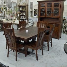 Amish Made Turnbuckle Industrial Farm Table Farmhouse Furniture And Home Decor