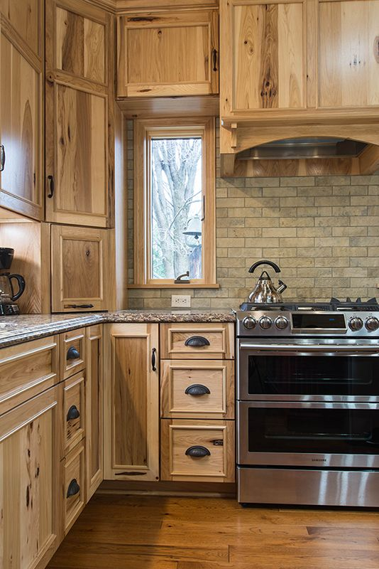 Rustic Hickory Cabinets Farmhouse Furniture And Home Decor